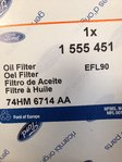 EFL90 oil filter genuine Ford
