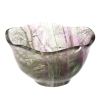 Rainbow fluorite crystal bowl