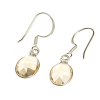 Citrine crystal earrings - oval
