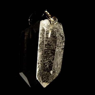 Quartz crystal natural crystal point pendant