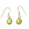 Peridot crystal oval ear rings