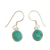 Turquoise earrings - oval