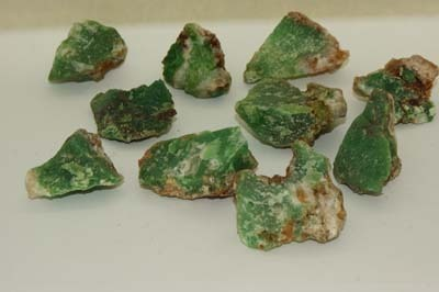 Chrysoprase crystal rough medium