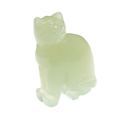 Jade cat carving 01