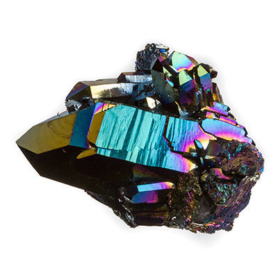 Titanium quartz crystal - Flame aura quartz crystals 29