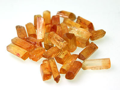Imperial topaz crystal (large)