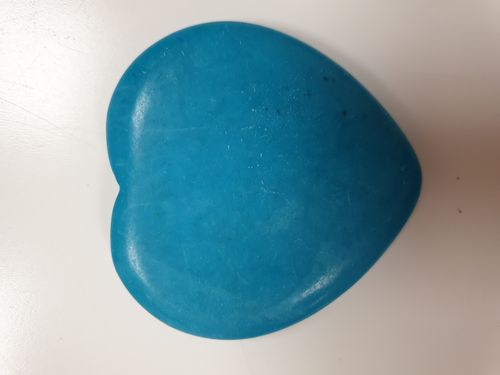 Blue Howlite Crystal Heart